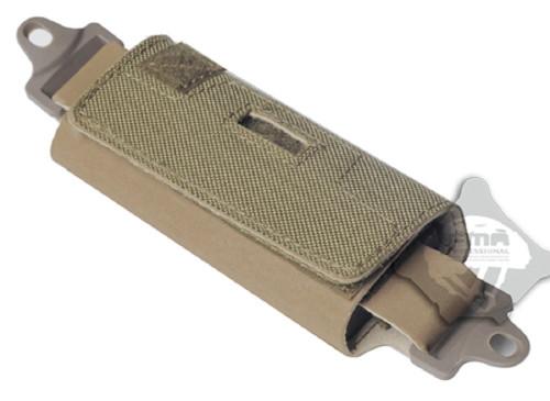 Ops Core  Helmet Rail Velcro Counter Weight Pouch Tan De Battery Holder
