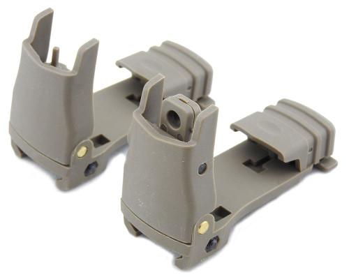 Fma Mft Fbus Gen Back Up Sights M4 Iron Sight Tan De Flip Up Pts