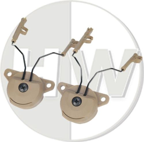 Fma Ussf Ops Core Bump Helmet Rail Adapters Set Tan De For Peltor Headset