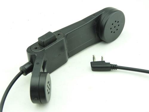 Tomtac Telephone Phone Ptt Black 2 Way Radio Switch Sordins Comtac Kenwood 2 Pin