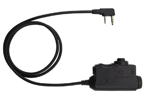 Earmor U94 Ptt Black 2 Way Radio Switch Sordins Comtac Kenwood 2 Pin