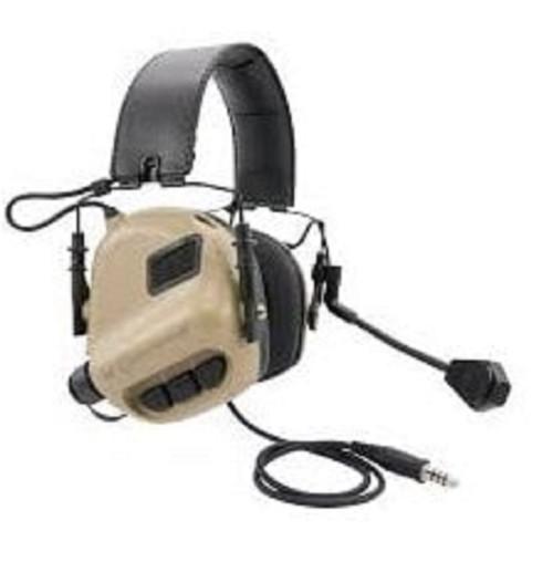 Tomtac Sordin Earmor Headset Mic Boom Radio Msa Design  Tan De