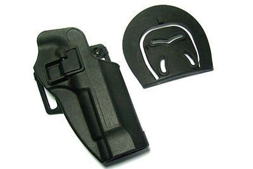 Cqc Serpa Pistol Belt Hard Holster For Beretta 92 / 96 Black Uk