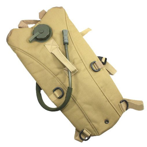 3L Water Hydration Back Pack With Bladder Tan Sand De Hiking Rucksack