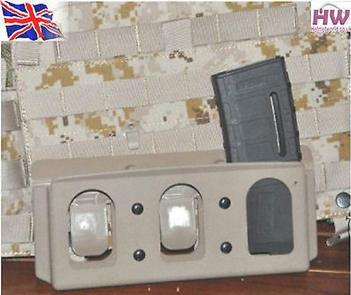 Molle Hard Holster 6094 Vest Inner For 3 M4 P Magazine Tan Sand De Qd