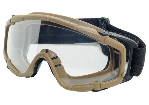 Paintball Ops Core Jump Tactical Clear Si Goggles Glasses Tan Sand De