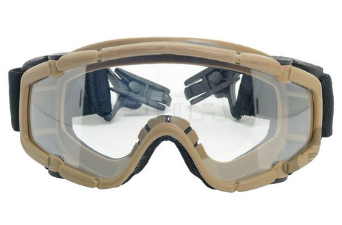 Paintball Ops Core Jump Helmet Rail Clear Si Goggles Glasses Tan Sand De