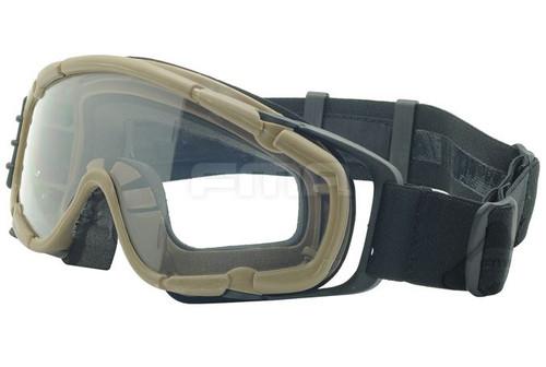 Paintball Ops Core Jump Fan Anti Fog Clear Si Goggles Glasses Tan Sand De