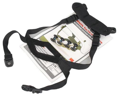 Ach Mich Replacement Helmet Retention Strap Set Kit Black Swat