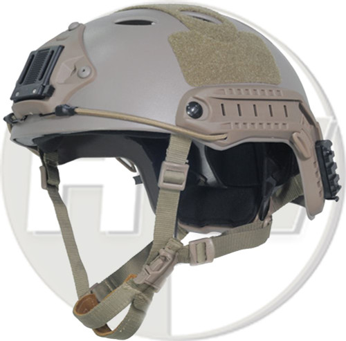 Carbon Pj Type Ops Core Fast Base Jump Helmet Tan Sand De With Arc Rails
