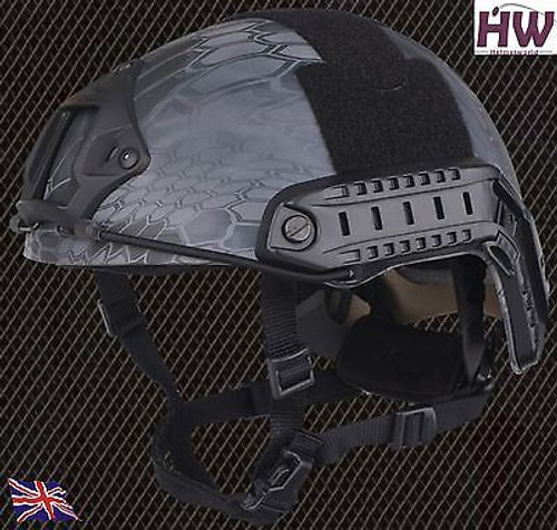 Mh Type Ops Core Fast Base Jump Helmet Kryptek Typhon With Arc Rails