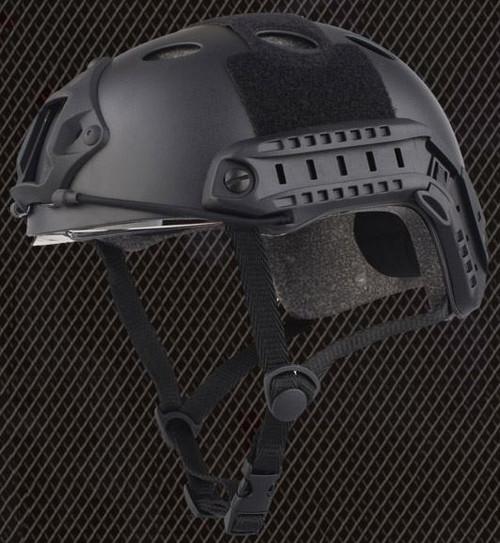 Pj Type Ops Core Fast Base Jump Helmet + Visor Black Arc Rails