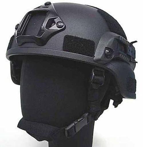 Mich Helmet With Rails Tactical Black Fibreglass Uk