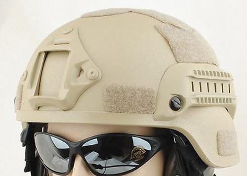 Mich Helmet With Rails Tactical Tan Sand De Fibreglass Uk