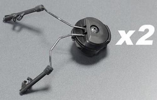 Fma Pt Helmet Rail Adapters Set Black Swat Ops Core Peltor Headset