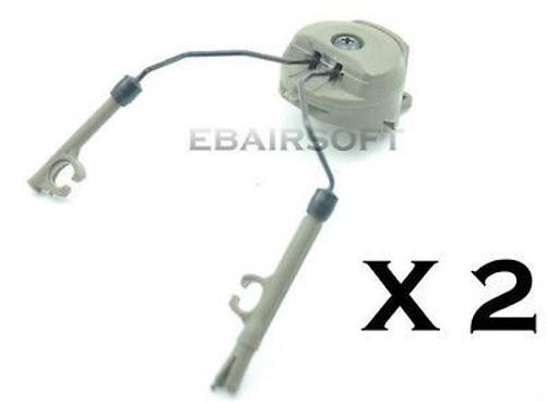 Fma Pt Helmet Rail Adapters Set Green Od Fg Ops Core Peltor Headset