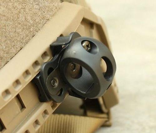 Af Ops Core Black Swat Helmet 20Mm Torch Mount Uk Crye Airframe Rail