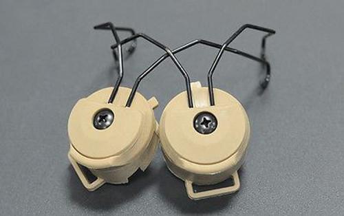 Fma Pt Helmet Rail Adapter Set Fast Tan De Ops Core For Sordin Headset