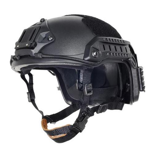 Ops Core Black Swat Tactical Maritime Abs Helmet Jump Rail L/Xl