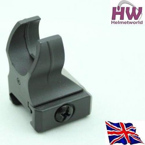 20Mm M4 Iron Battle Hk416 Rail Metal Front Sight Black Adjustable Uk