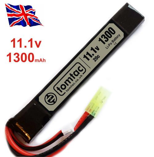 Battery 11.1V 20C 1300 Mah Lipo Mini Tamiya Tomtac