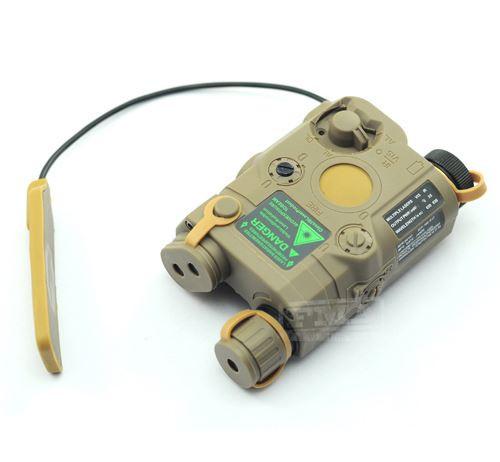 Peq 15 Laser Light Torch Ir Pressure Pad Ris 20 Rail Tan De Fully Working
