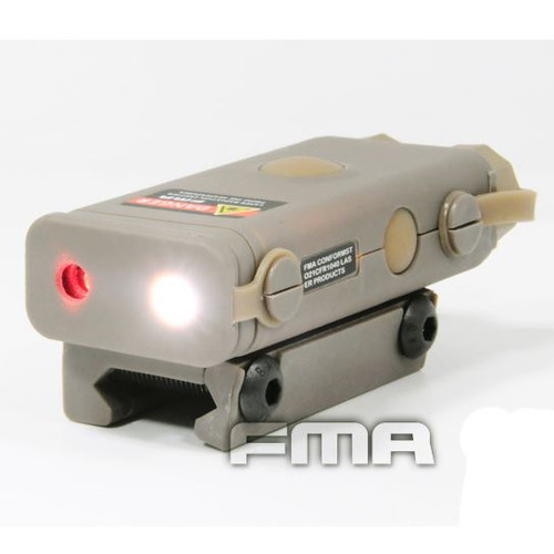 Peq10 Red Laser Light Led Torch Flashlight Ris 20Mm Rail Tan De Uk