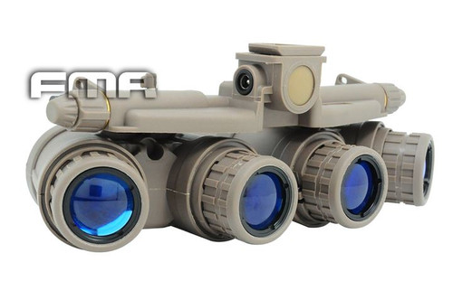 Dummy Quad Night Vision Goggles Tan Sand De Brown Gpnvg 18 Uk With Led