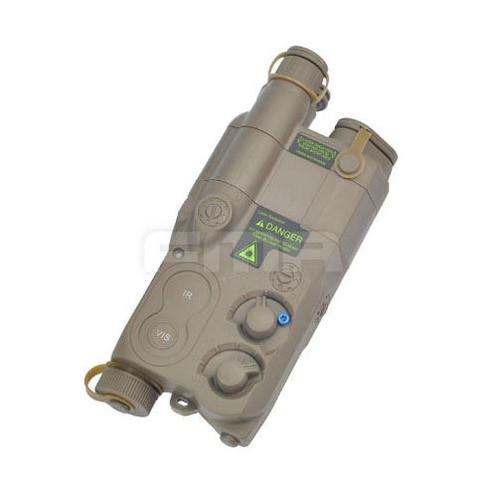 Dummy An/Peq16 Battery Box Case Tan De Lipo Nimh Aeg Ris Ras Rail Peq 16