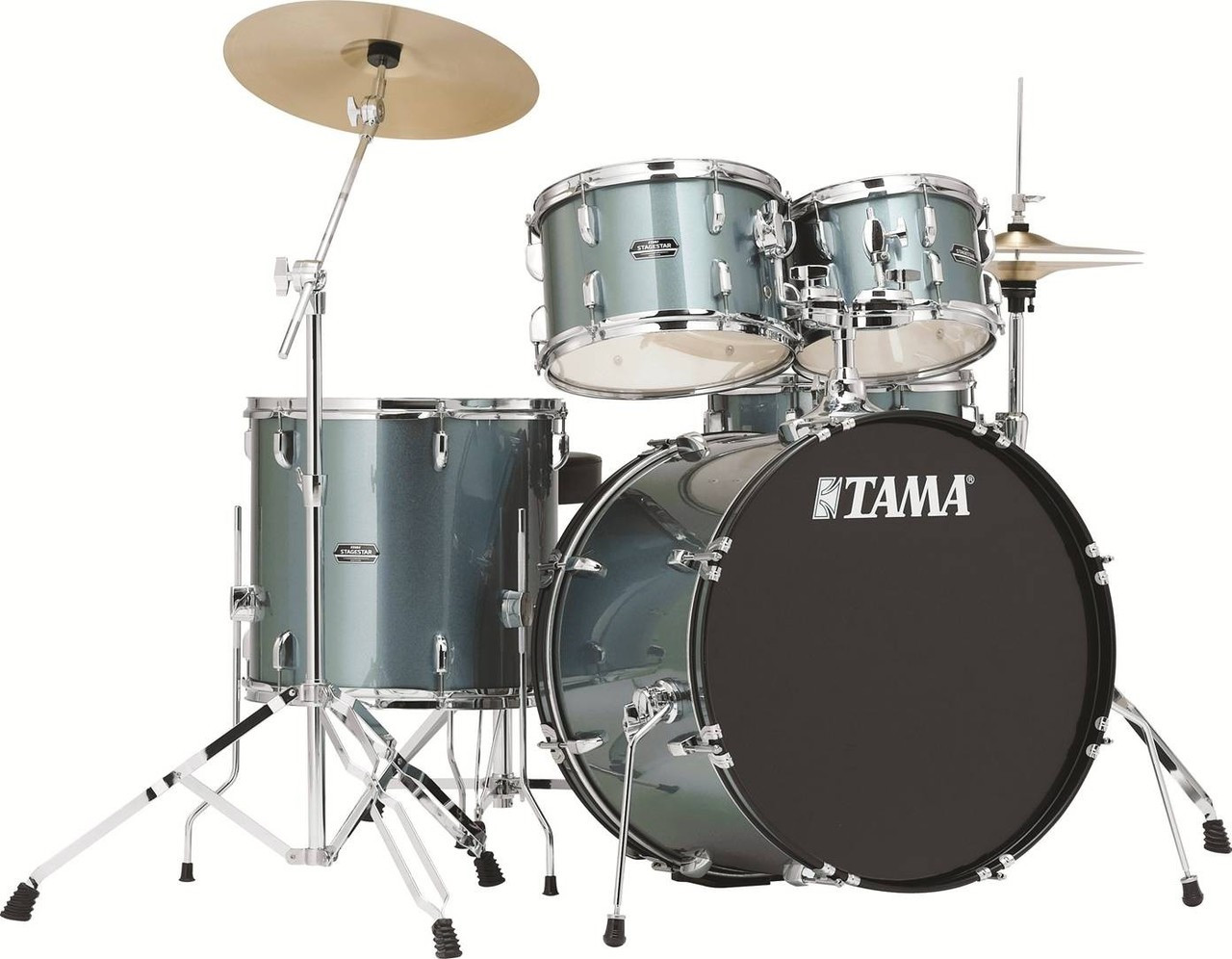 Tama Stagestar SG52KH5C CSV 5-Piece Drum Kit Charcoal Silver with Cymbal Set