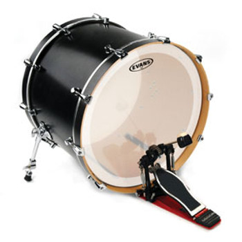 Evans EQ3 Frosted Bass Drum Head Batter