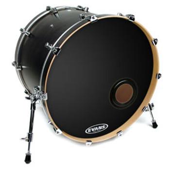 Evans EMAD Black Bass Drum Head Resonant