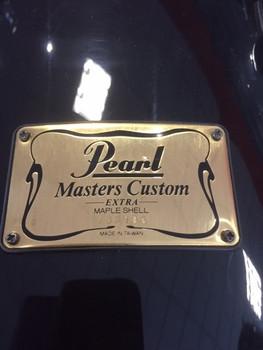 "Ex-hire Pearl Masters Maple 14 x 12"" rack tom - Black"