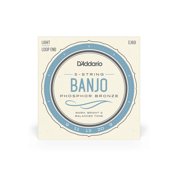 D'Addario EJ69 Phosphor Bronze Banjo Strings