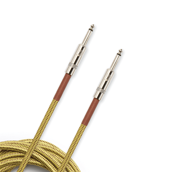 D'Addario Planet Waves Braided Instrument Cable - 20ft in Black, Grey or Tweed