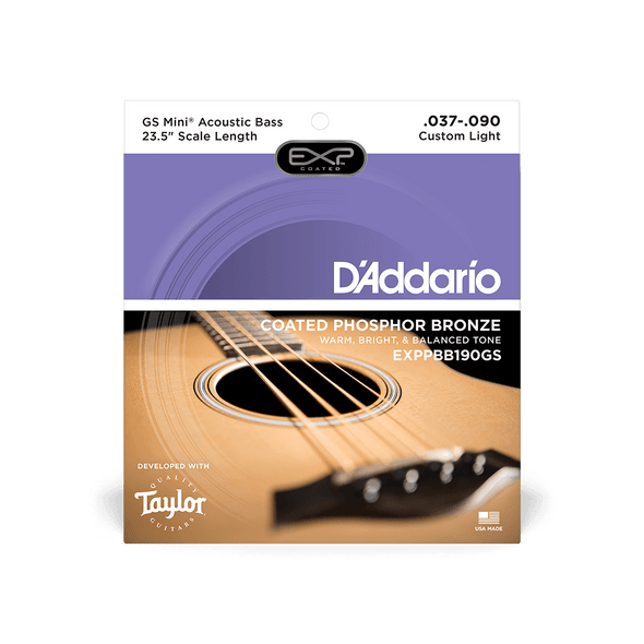 D'Addario Coated Phosphor Bronze Acoustic Bass String 37-90 GS Mini Scale