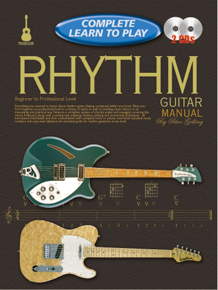 Progressive Complete Learn to Play Rhythm Guitar Manual Bk/2CD