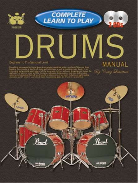 Progressive Complete Learn To Play Drums Manual Bk/2CD