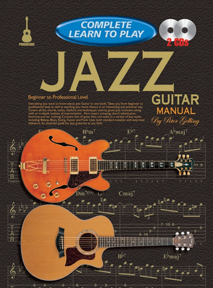 Progressive Complete Learn to Play Jazz Guitar Manual Bk/2CD
