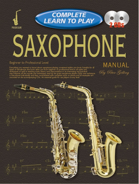 Progressive Complete Learn to Play Saxophone Manual Bk/2CD