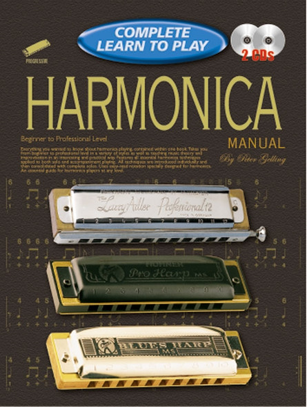 Progressive Complete Learn to Play Harmonica Manual Bk/2CD