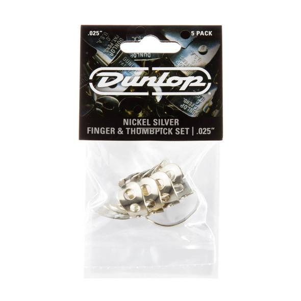 "Dunlop 0.025"" Nickel Silver Finger & Thumbpick Set"