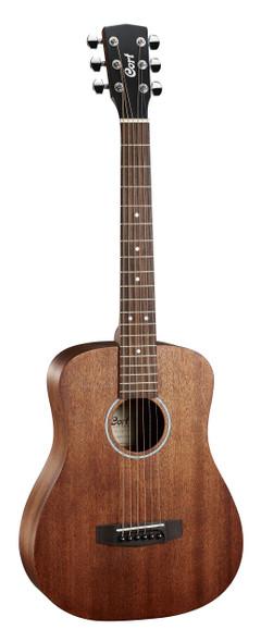 Cort AD Mini M OP  Dreadnought Guitar Open Pore Mahogany w/Bag