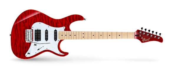 Cort G250DX TR Electric Guitar Transparent Red Finish