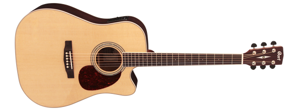Cort MR710F Acoustic Guitar - Natural Satin Finish with Pickup