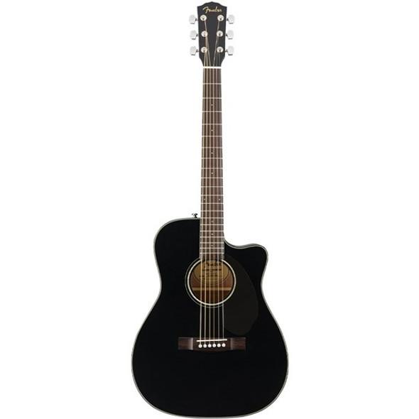 Fender CC-60SCE Concert ACoustic Guitar- Black with Walnut Fingerboard