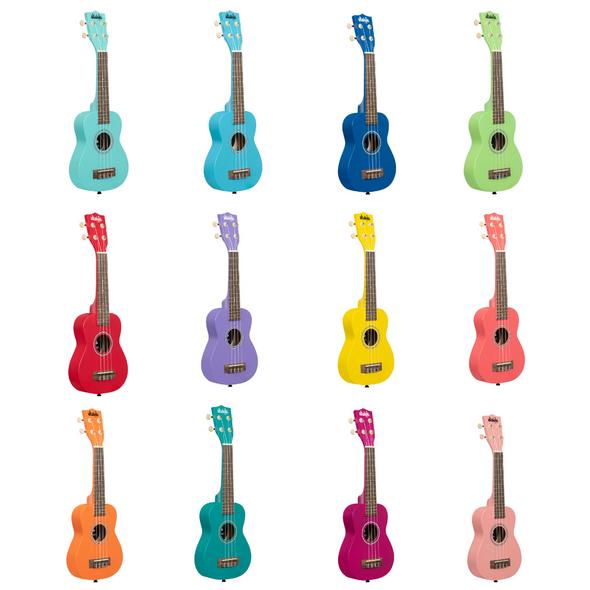 Kala Ukadelic Soprano Ukulele - Various Colours