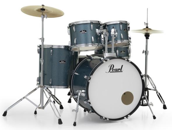 "Pearl Roadshow-X 22"" Fusion Plus Drum Kit with Pearl Hardware - AQUA BLUE GLITTER"