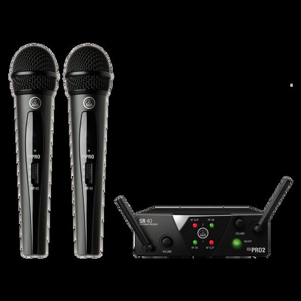 AKG WMS40 Mini Dual Wireless Vocal Microphone System - Band A/C