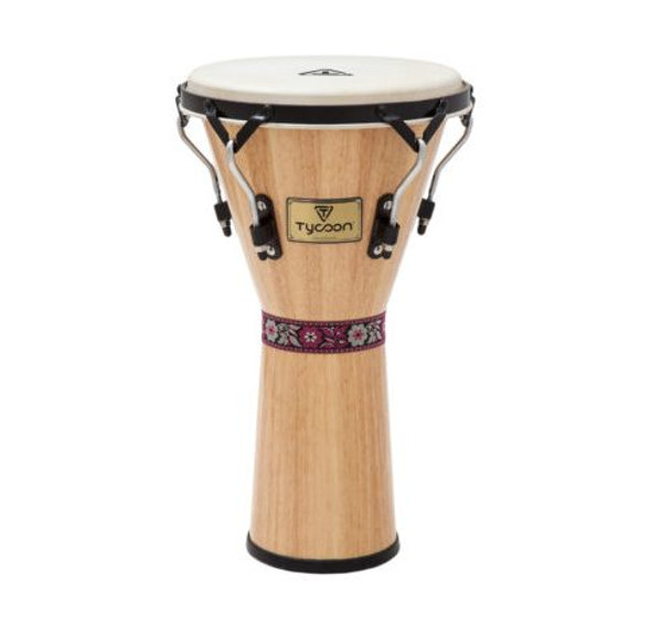 "Tycoon 12"" Supremo Series Djembe - Natural Finish"